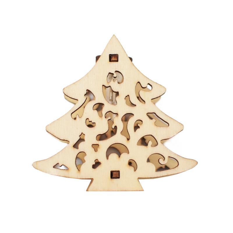 Prémium karácsonyi fa LED-füzér / 10 db LED, fenyőmintás (1101666)