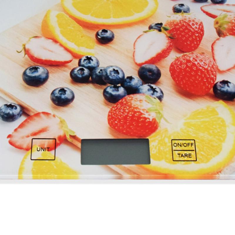 Digitális konyhai mérleg, érintés érzékelővel – narancsosmintával / 5 kg-ig