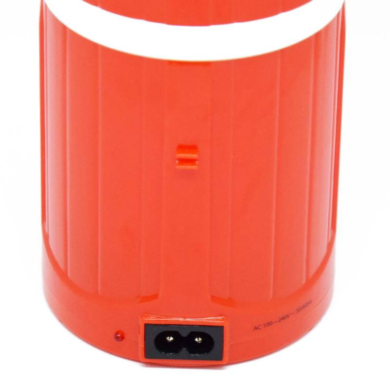 Retro kültéri LED lámpa – hordozható-kihúzható / piros (DP-7407)