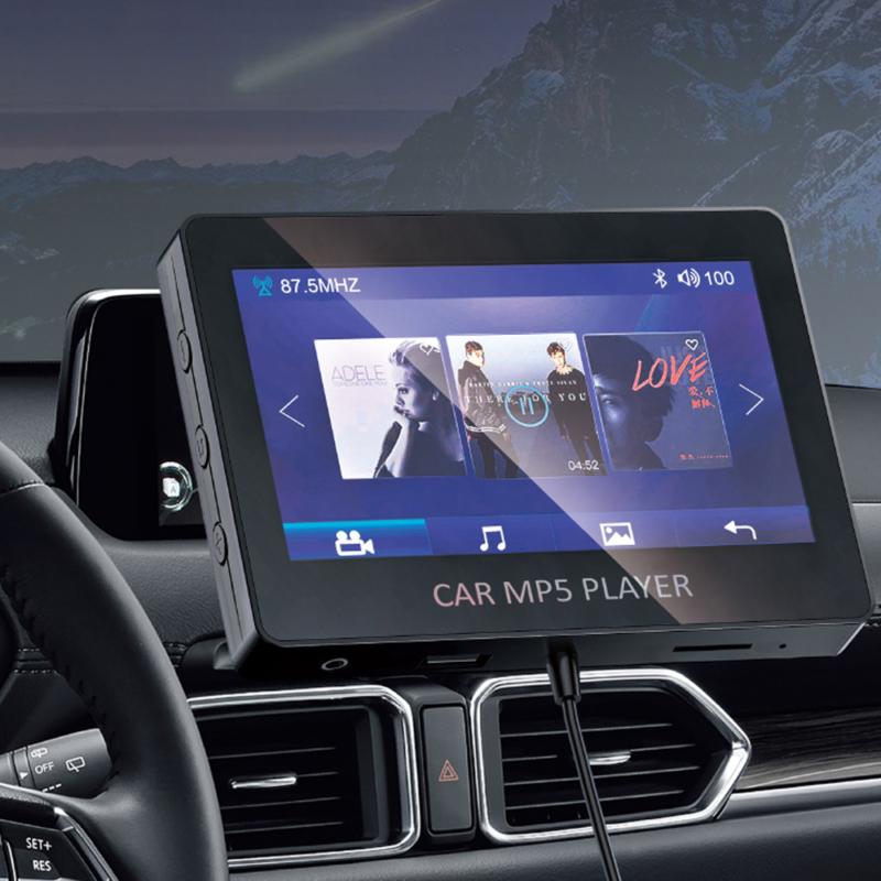 Autós MP5 lejátszó, szellőző rácsba illeszthető – vezeték nélküli Bluetooth csatlakozás / 4.3 col (M6)