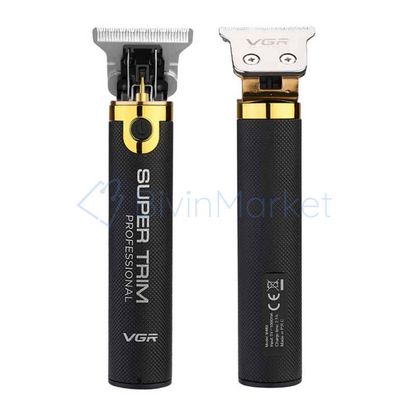 Professzionális szuper trimmelő – USB-vel tölthető/ fekete-arany (V-082)