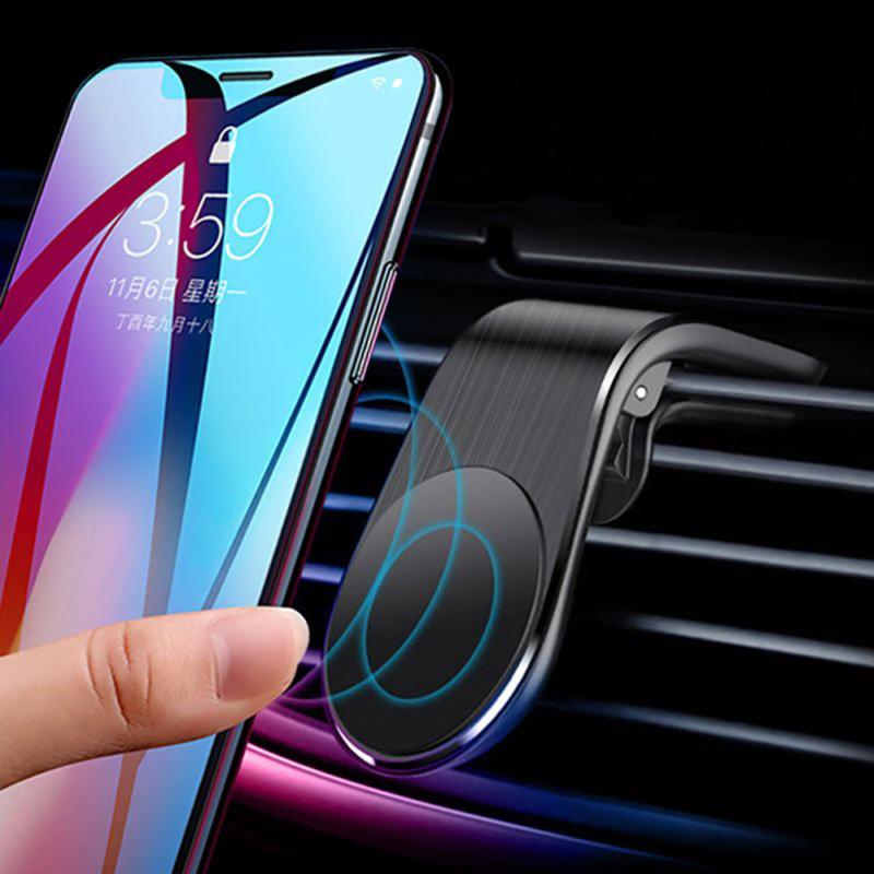 Szellőző rácsba illeszthető, mini autós telefontartó – extra erős mágnessel