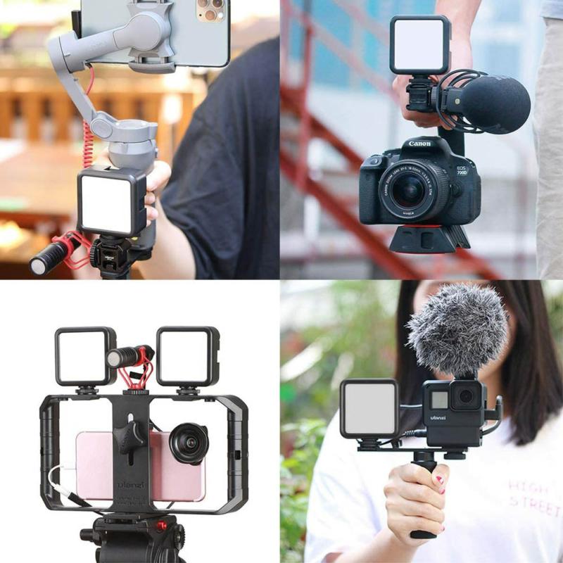 Ulanzi VL49 mini RGB LED videólámpa - állítható szín és -színhőmérséklet, akkumulátor, vakupapucs foglalat