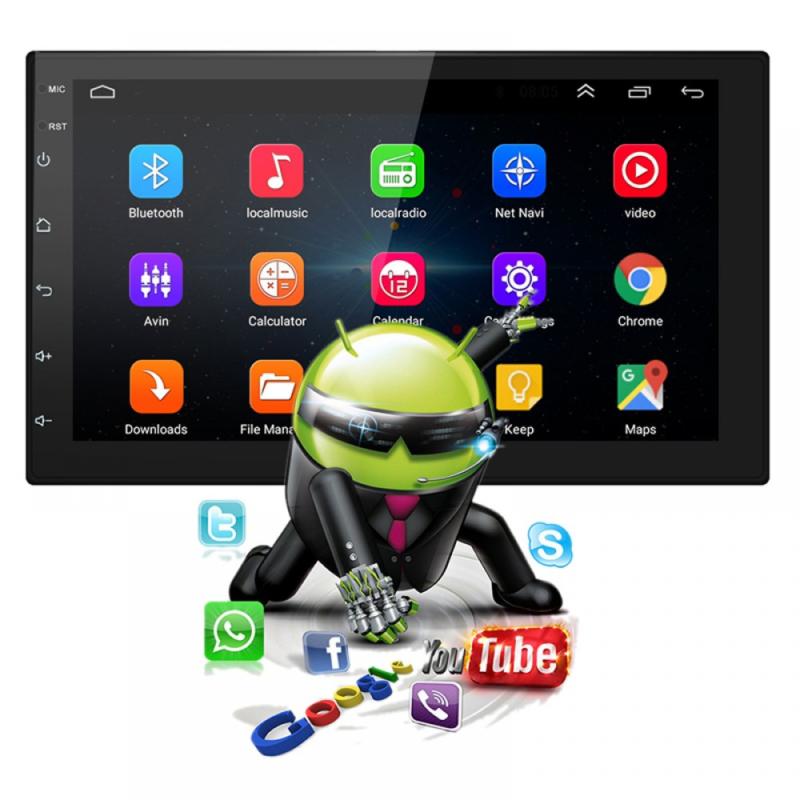 """Autós média lejátszó 9.2"""" érintőkijelzővel, Android rendszerrel / 16 GB, 2 DIN, videó- és zenelejátszó, FM rádió, Bluetooth"""