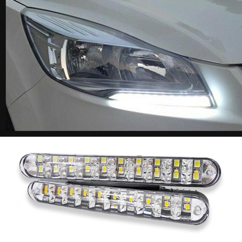 Autós nappali menetfény – extra erős fényű 20 SMD LED / 10 db sárga index chip (LED-239)