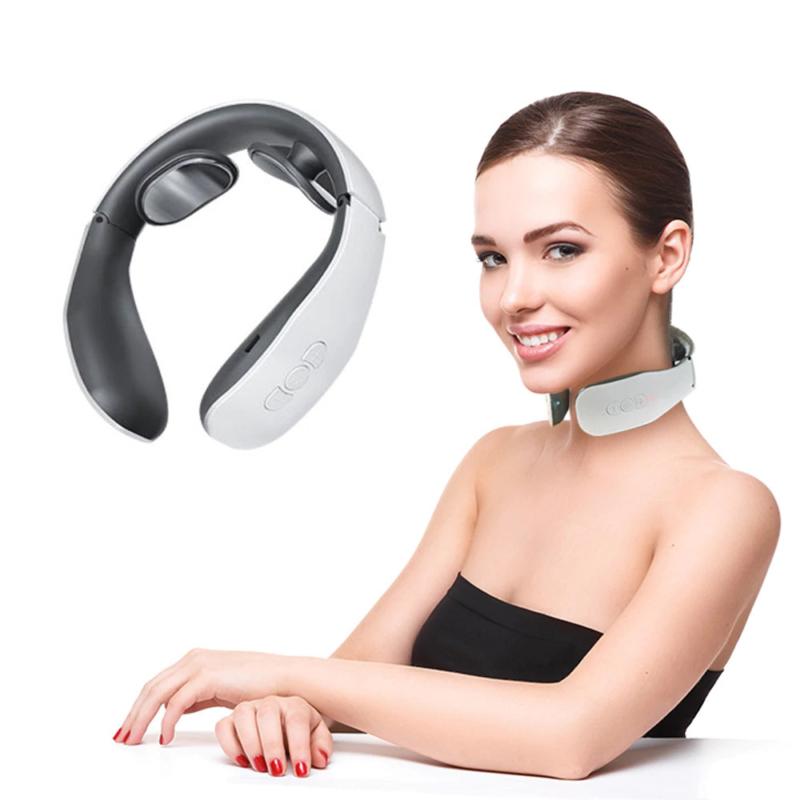 Intelligens, akkumulátoros, elektromos nyakmasszírozó és izomstimuláló készülék (KS996)