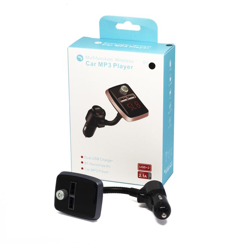 Szivargyújtós MP3 transzmitter – dupla USB bemenettel