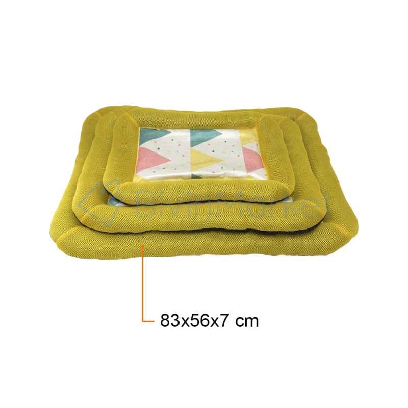 Kényelmes fekhely – kutyapárna / sárga 83x56x7 cm