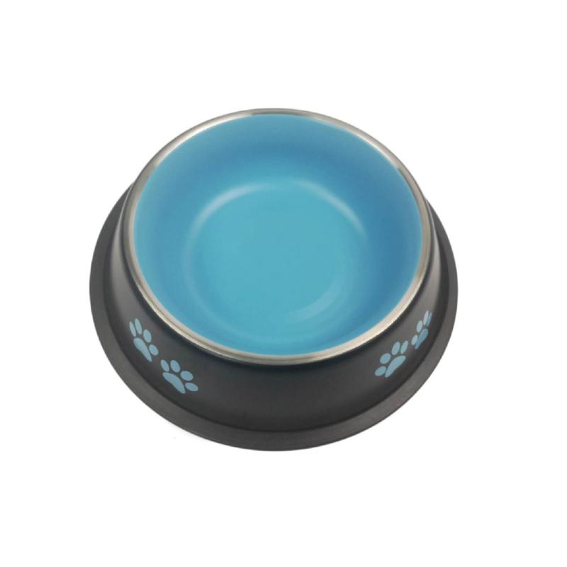 Etető és itató tál / 400ml – kék (BPS-14260)