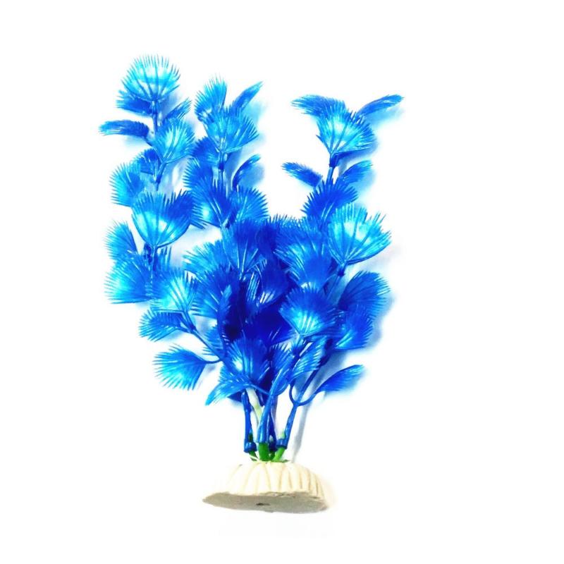 Akvárium dekoráció – műnövény / kék (BPS-6756)