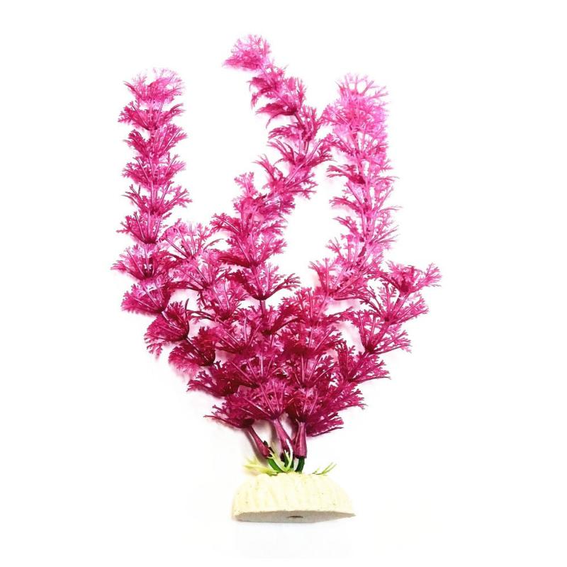 Akvárium dekoráció – műnövény / rózsaszín (BPS-6756)