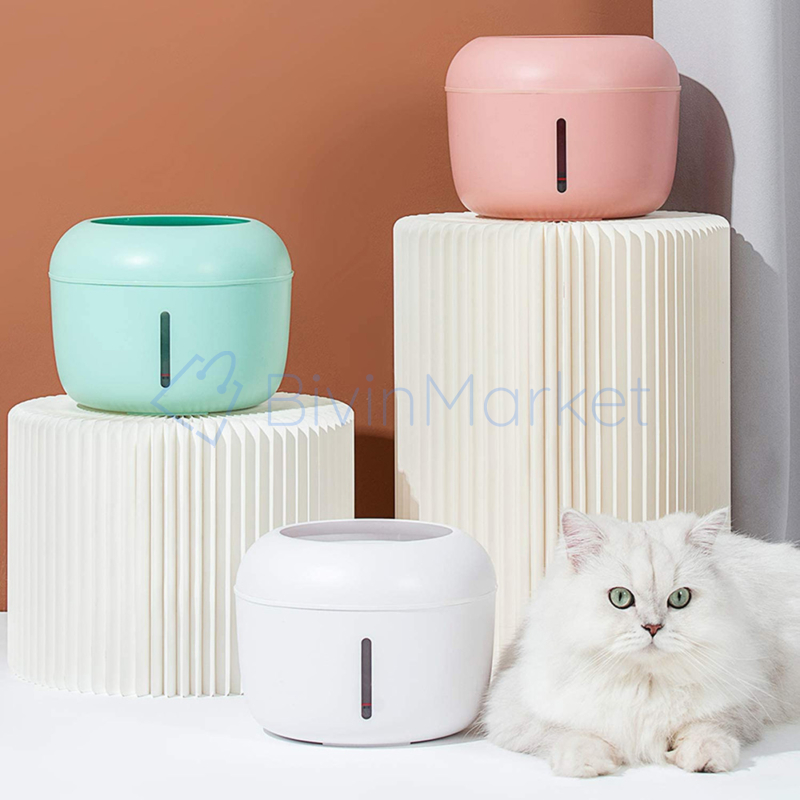 Automata itatókút - macskáknak és kistestű kutyáknak / rózsaszín (BPS-5594)