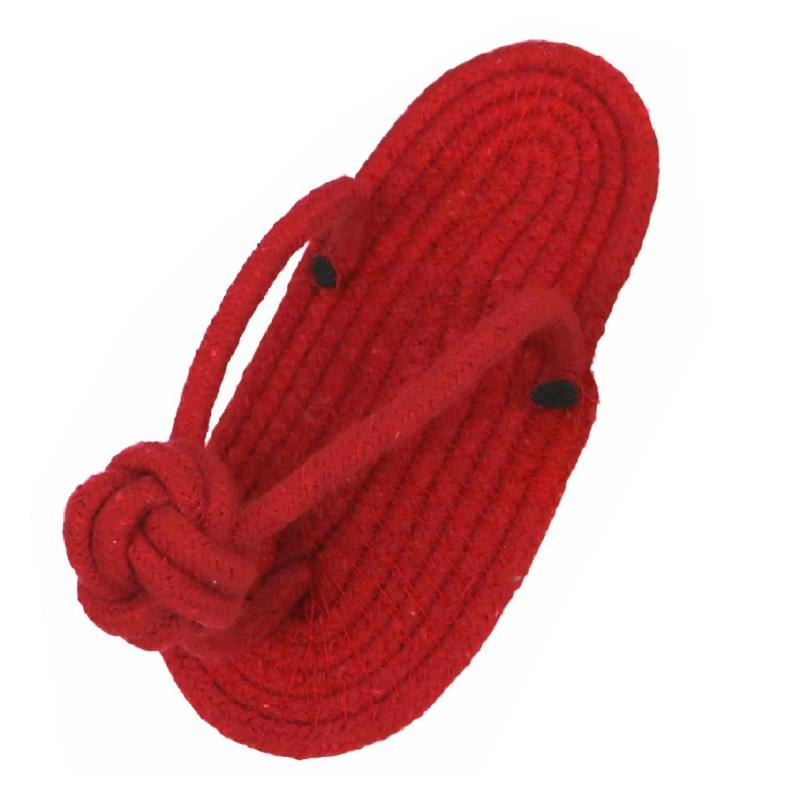 Papucs formájú kötéljáték – kutyáknak / piros (BPS-8624)