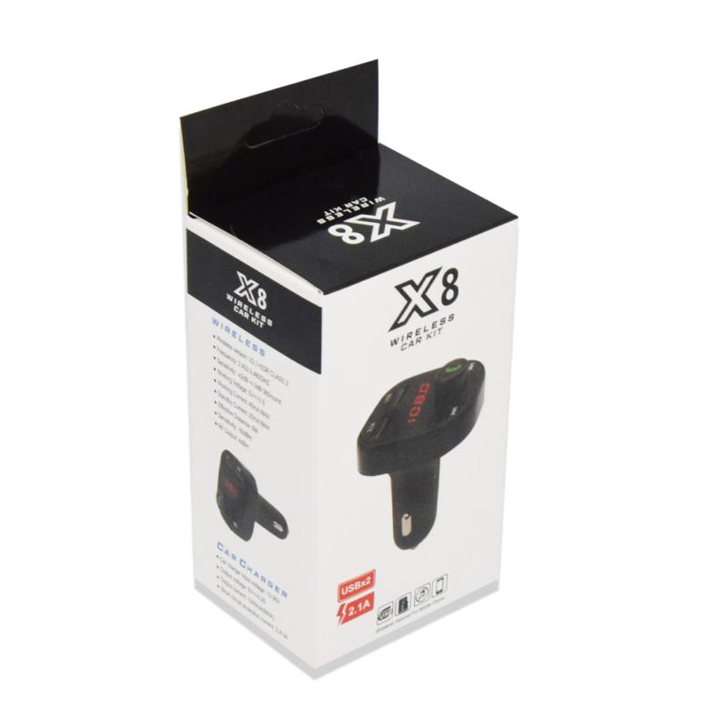 Szivargyújtós MP3 Transzmitter – Autós kihangosító, 2 USB bemenettel (X8)