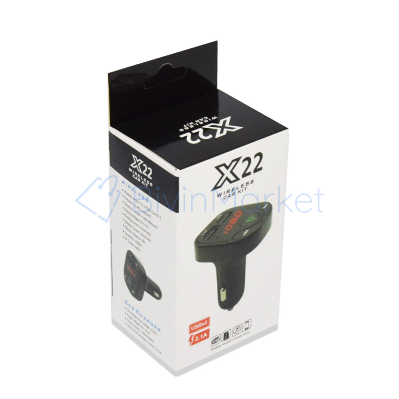 Mini autós kihangosító MP3 Transzmitter – 2 db USB bemenettel (X22)