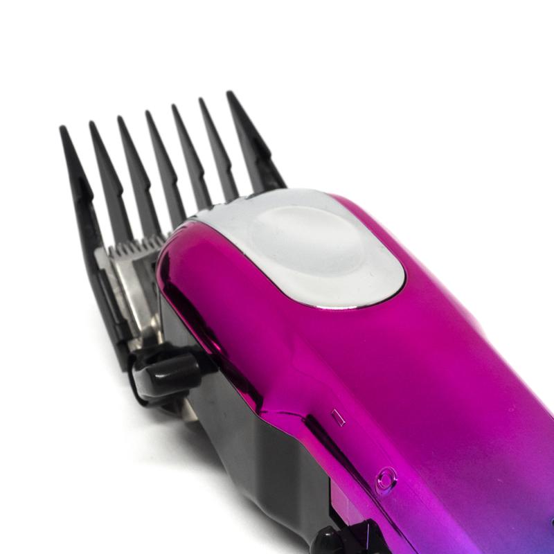 Professzionális vezeték nélküli hajnyíró gép – 4 fejjel / dizájnos, kék-rózsaszín