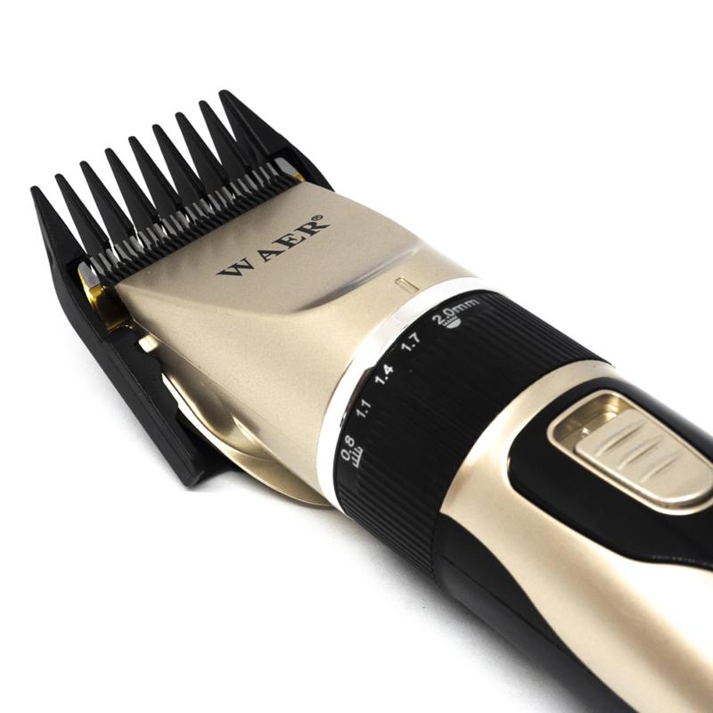 Extra könnyű, professzionális vezeték nélküli hajnyíró gép – 4 fejjel / szürke