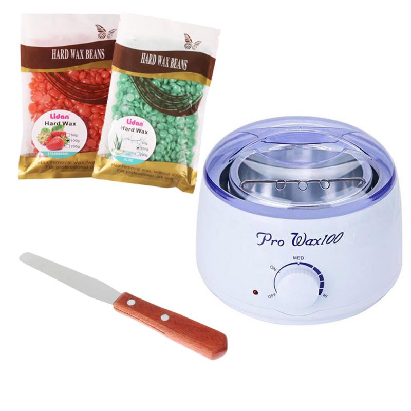 Gyantázószett - ProWax gyantamelegítő, 300 g gyantagyöngy, fém spatula