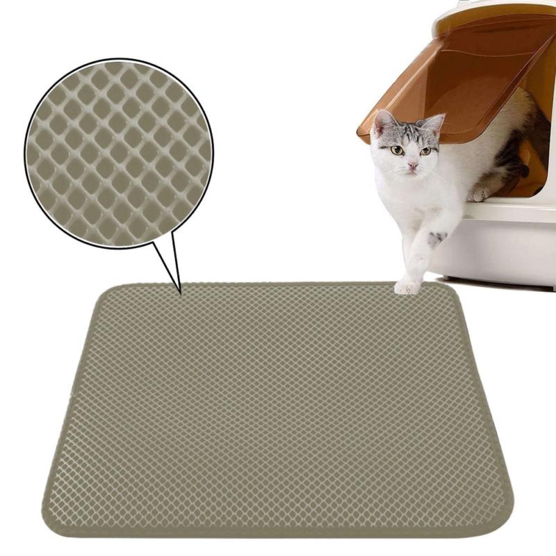 Duplarétegű macskaszőnyeg / alom kilépő – barna