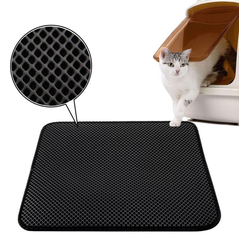 Duplarétegű macskaszőnyeg / alom kilépő – fekete