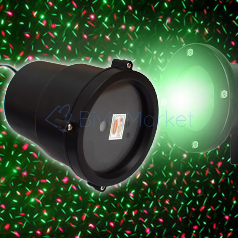 Lézeres dekorvilágítás kültérre / távirányítóval vezérelhető, leszúrható karácsonyi piros-zöld lézershow