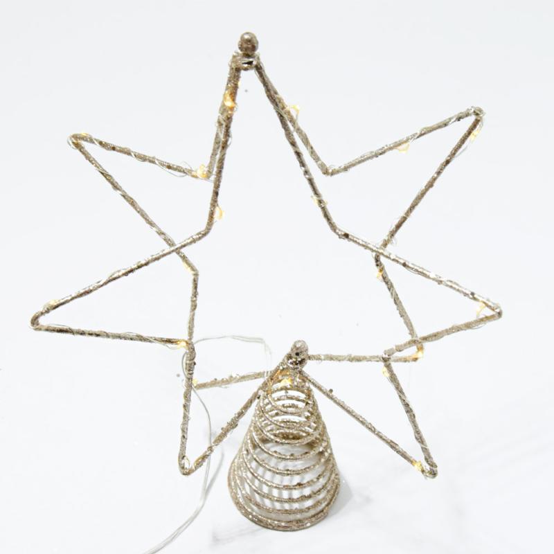 Csúcsdísz karácsonyfára / 31 cm, csillag alakú