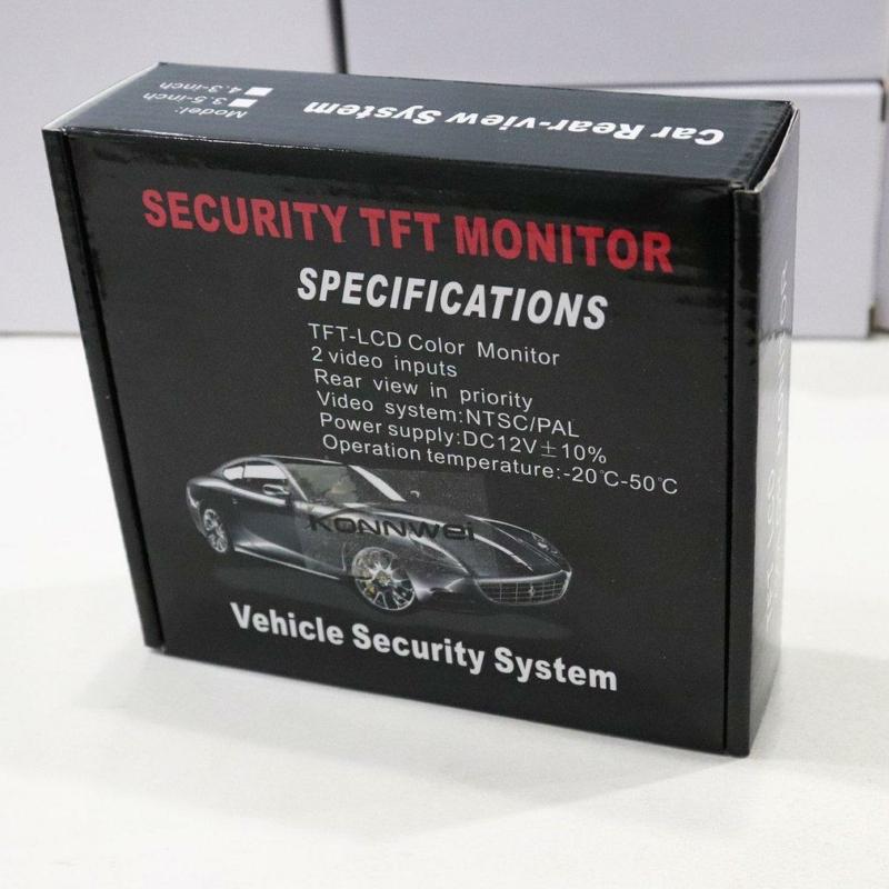 Felszerelhető tolatókamera LCD monitorral