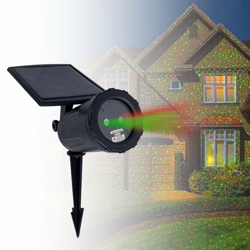 Napelemes lézerlámpa / Fényjáték, kültéri használatra