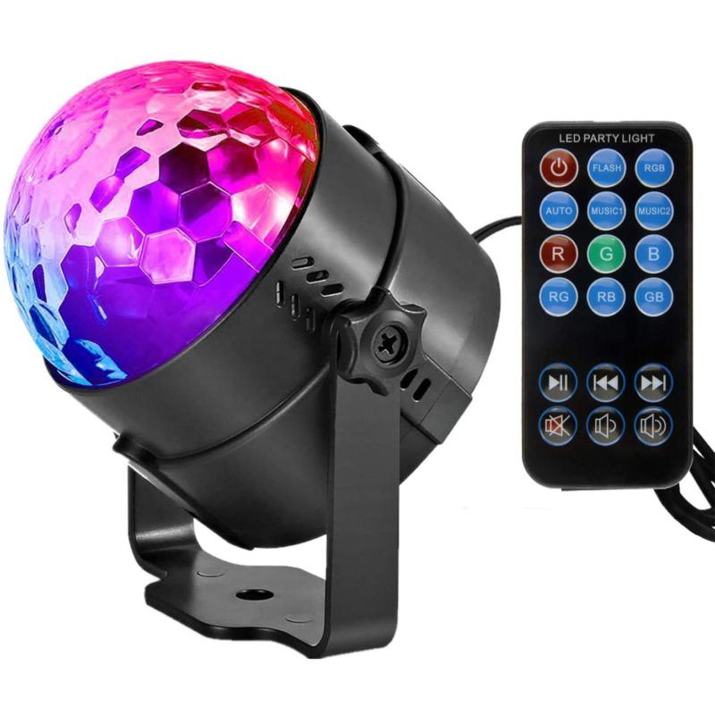 RGB LED stroboszkóp / színes, állítható diszkófény