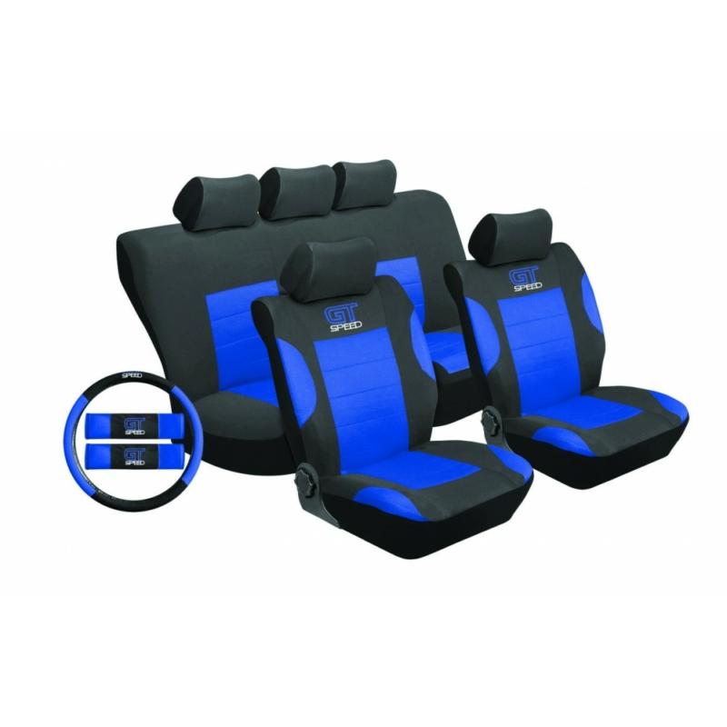 Univerzális üléshuzat UL-TY1651BKB kék -fekete
