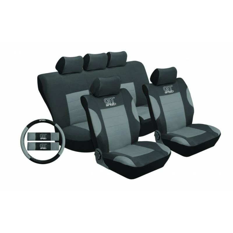 Univerzális üléshuzat UL-TY1651BKG szürke-fekete