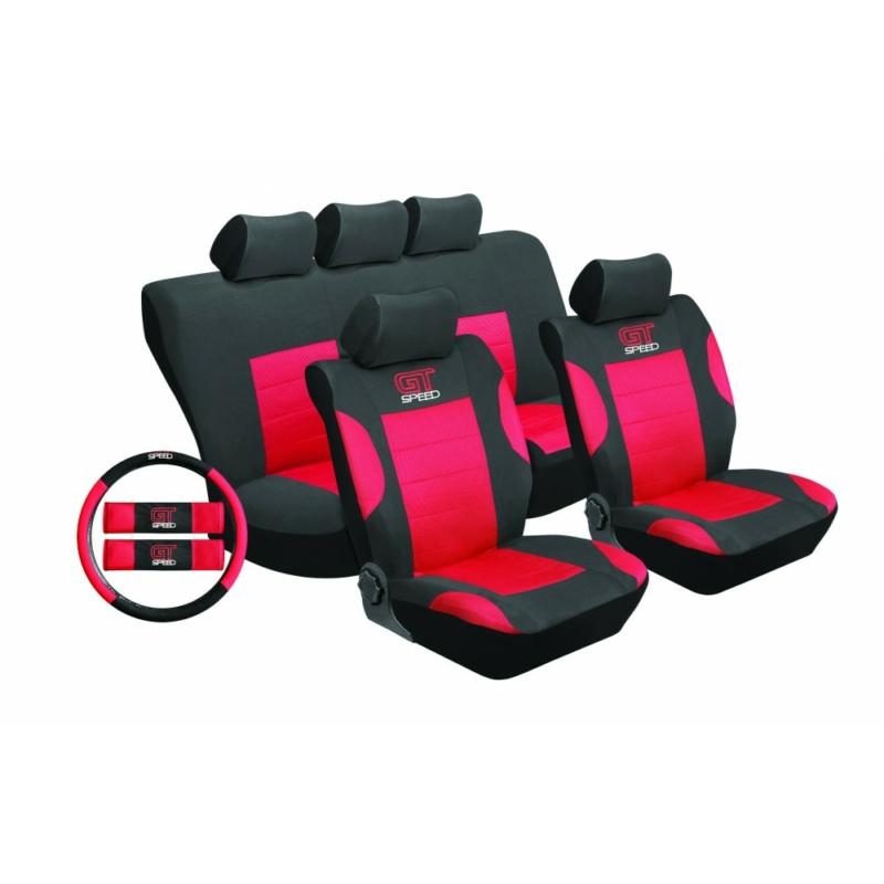 Univerzális üléshuzat UL-TY1651BKR piros -fekete