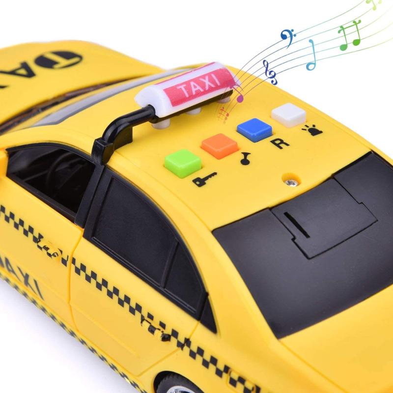 Zenélő, világító taxi / 1:16 méretarány