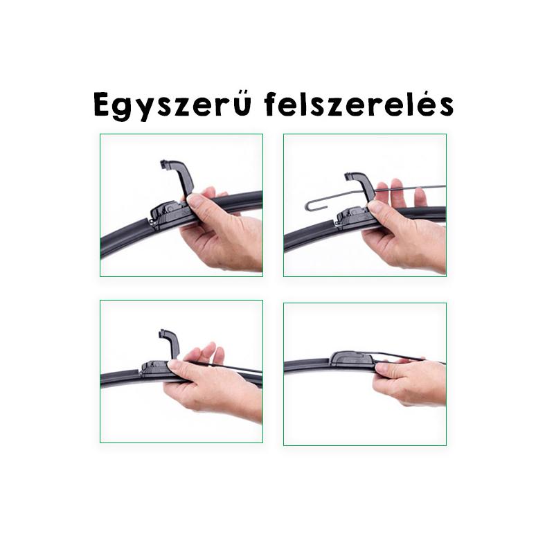 Univerzális keret nélküli ablaktörlő párban / 9 adapterrel