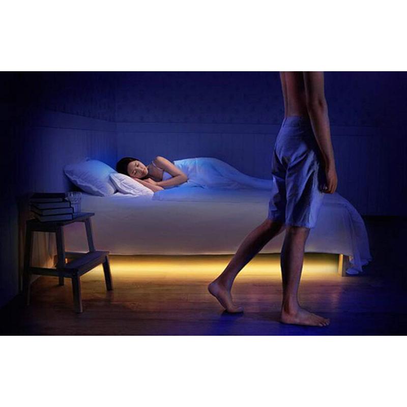 Éjszakai fény az ágy alá / Mozgásérzékelős LED csík