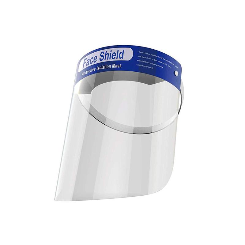 Fejpántos műanyag arcvédő pajzs / átlátszó arcmaszk