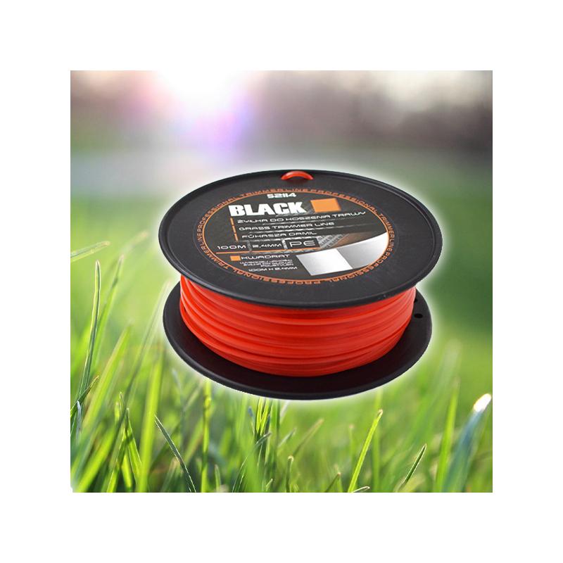 Black négyzet profilú, 2,4 mm-es fűkasza damil / 100 méteres