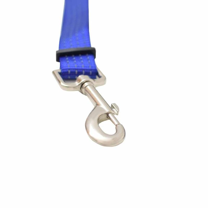 BPS-2676 Egyszínű, autós kutyapóráz, nagy méret / biztonsági öv adapterrel