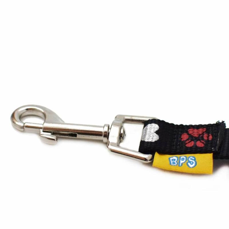 BPS-2751 Mintás, autós kutyapóráz, kis méret / biztonsági öv adapterrel