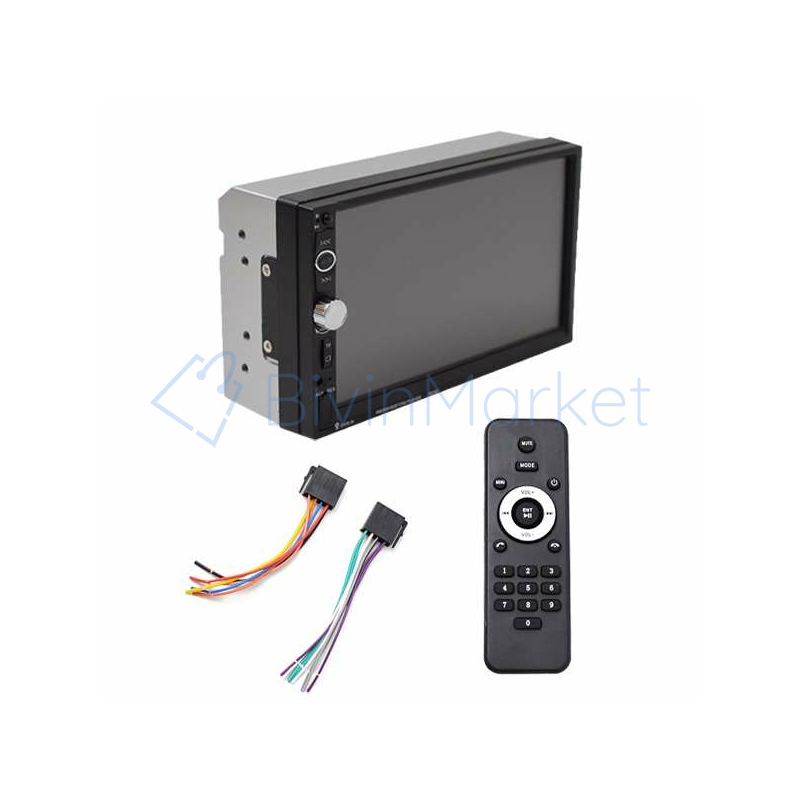 2 DIN Bluetooth autórádió / MirrorLink multimédiás rendszer 7 colos érintőképernyővel