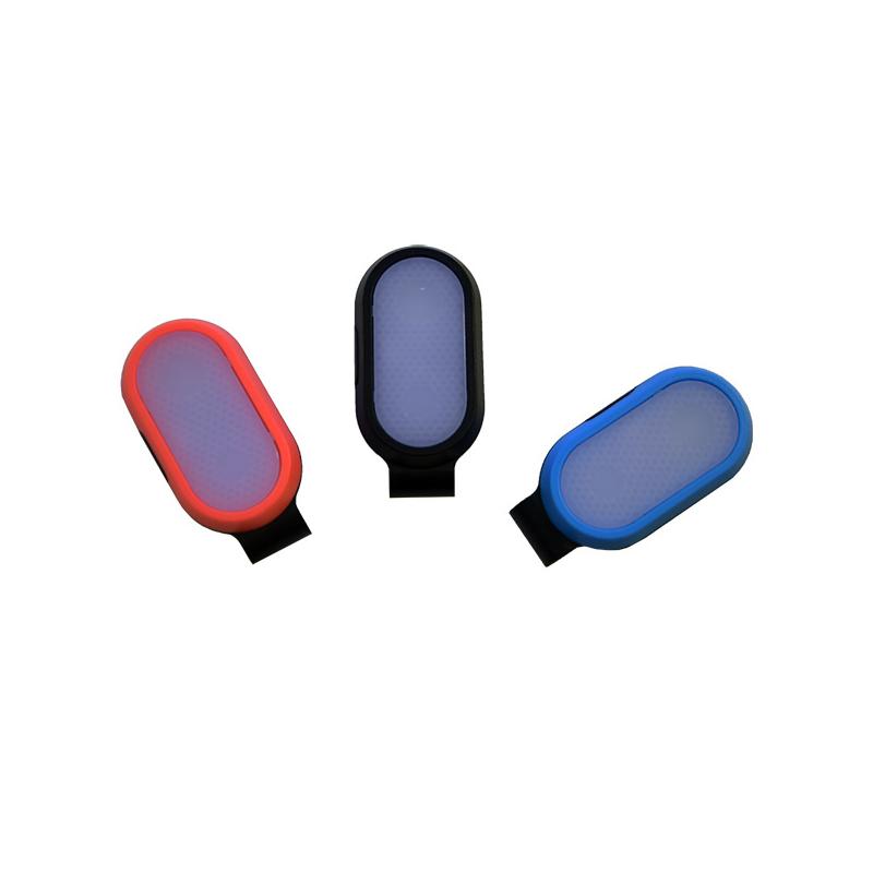 Mini csíptethető ledes biztonsági világítás / hátizsákra, ruhára - narancssárga