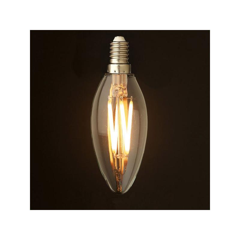 6W Edison Vintage gyertya izzó / E14 Filament LED