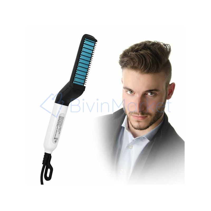 Haj- és szakállformázó, egyenesítő fésű férfiaknak