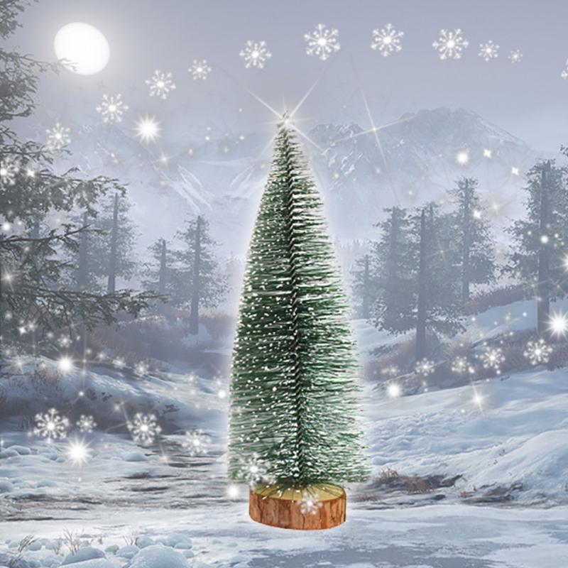 Karácsonyi mini díszfenyő dekoráció / 27 cm
