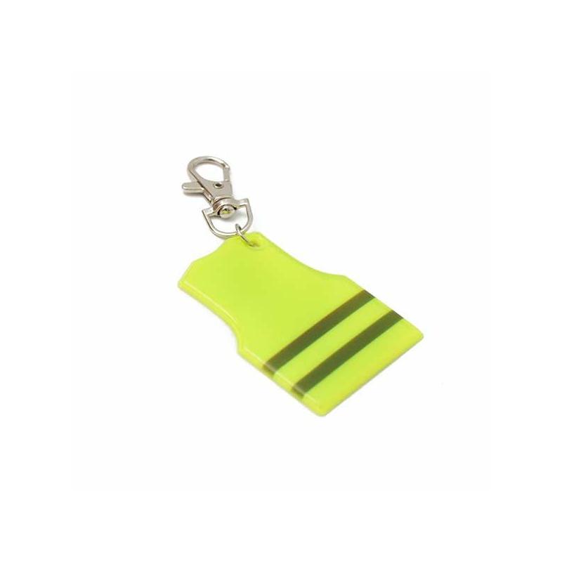 9 darabos láthatósági fényvisszaverő szett / reflexszalag, kulcstartó, matrica