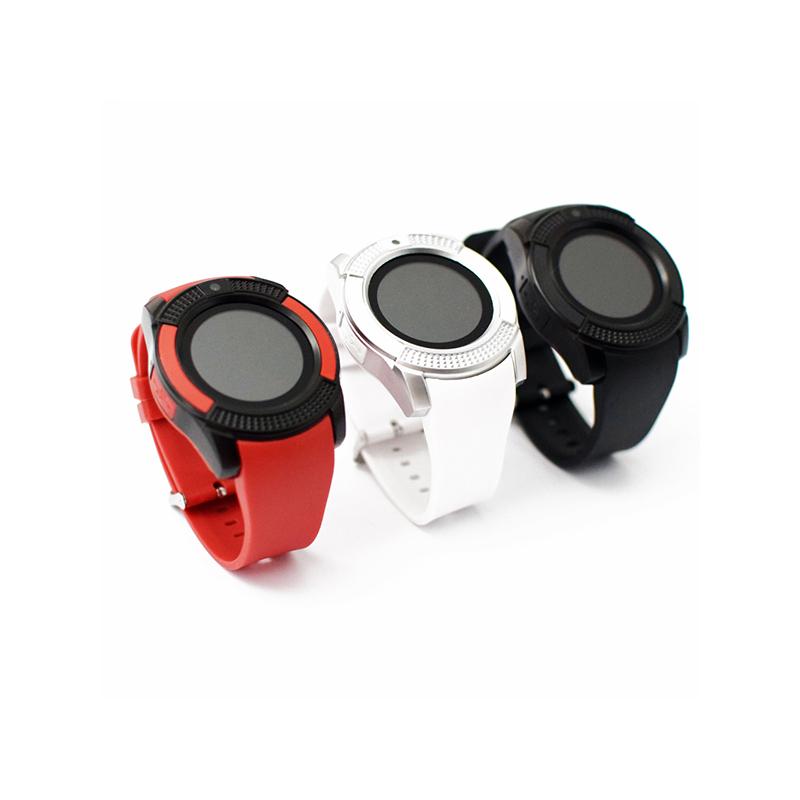 Érintőkijelzős kerek okosóra / kamerával és telefon funkcióval - kék