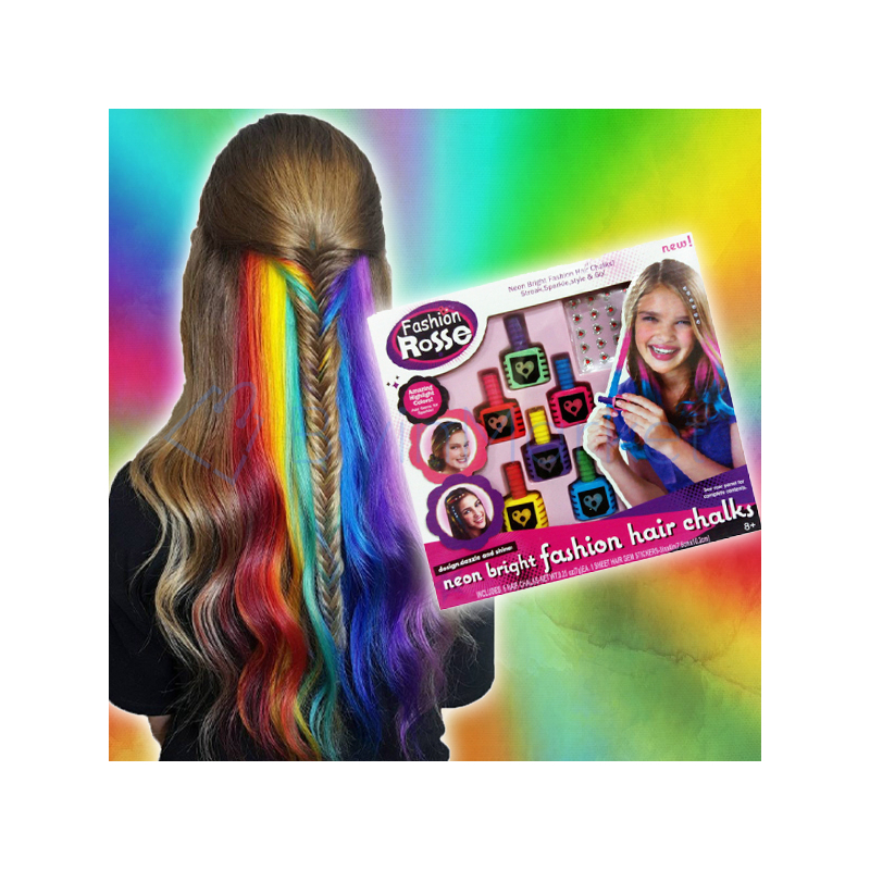 Neon hajszínező kréta készlet