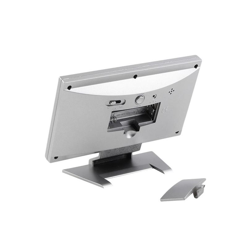 Hangra működő LCD kijelzős asztali óra