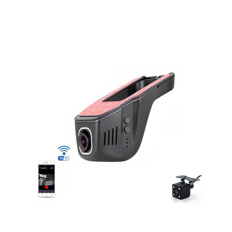 WiFi autós fedélzeti kamera / HD Dash Cam, menetrögzítő + tolatókamera