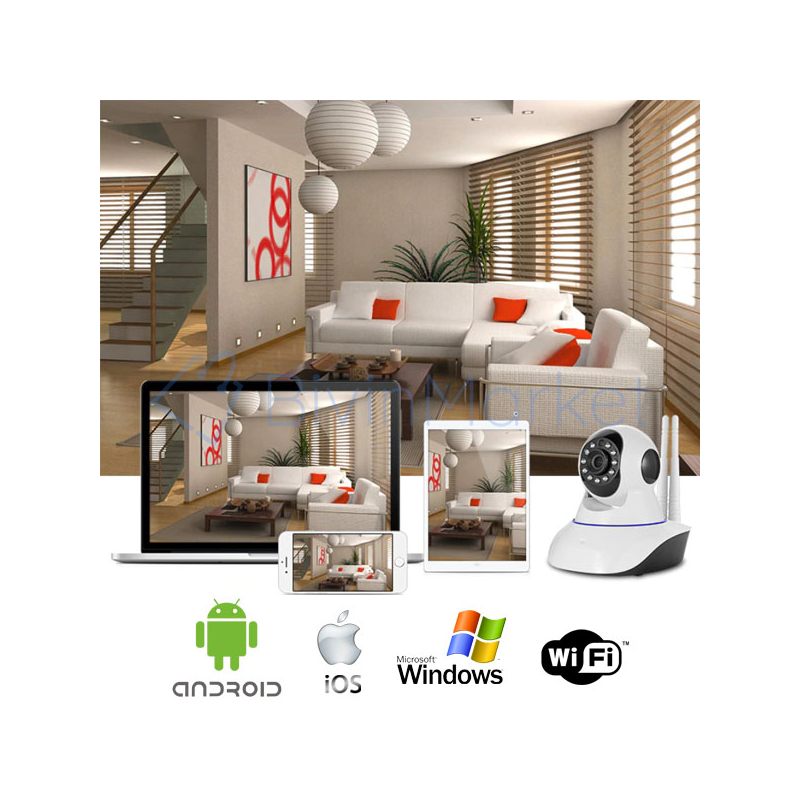 HD WiFi biztonsági kamera mozgásérzékelővel és riasztás funkcióval